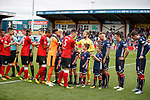 Rangers and Ross County greet one another before kick off in Dingwall