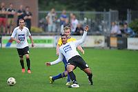 VOETBAL: DRACHTEN: 20-09-2014, Drachtster Boys - VV Staphorst, uitslag 2-1, Martijn Brakke (#10), Iloba Achuna (#24), , ©foto Martin de Jong