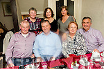 James Kelliher, Racecourse Road, Tralee, celebrates his 50th birthday with family at Cassidy's on Saturday Pictured l-r Donal Kelliher, James Kelliher, Marie O'Sullivan, Pa O'Sullivan, Back l-r Margaret Kelliher, Caroline Kelliher and Mary Kelliher