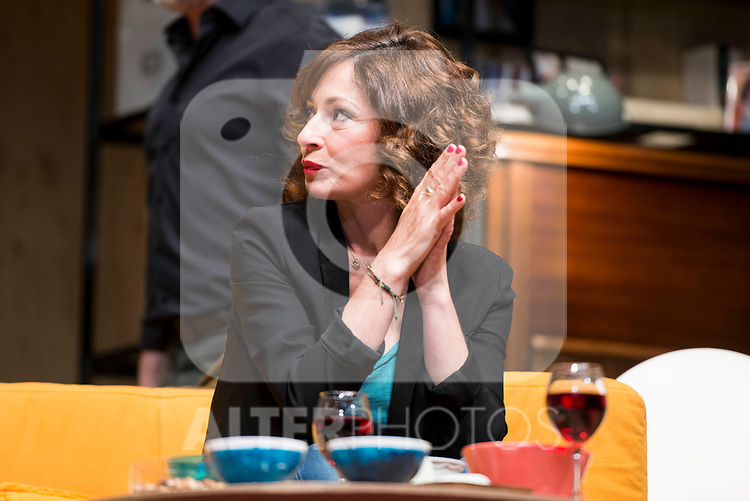 Maria Lanau during theater play of &quot;Los vecinos de arriba&quot; at Teatro Circulo de Bellas Artes in Madrid, April 25, 2017. Spain.<br /> (ALTERPHOTOS/BorjaB.Hojas)