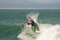 JEFFREYS BAY, South Africa (Monday, July 18, 2011) - The Billabong Pro Jeffreys Bay, Event No. 4 of 11 on the 2011 ASP World Title season, was  called ON this morning, with Round 2 commencing in clean but inconsistent three-to-four foot (1 metre) waves at Supertubes .The start of the round was delayed till after 9 a.m. while organisers waited for the tide to start pushing in. The small easterly swell worked long enough for six heats to be completed with the standout surfers Being Adrian Buchan (AUS), Adriano de Souza (BRA) and Owen Wright (AUS). Bobby Martinez (USA) and Kelly Slater (USA) both missed their respective heats today and were eliminated from the event. .Photo: joliphotos.com