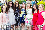 Zara Harnett, Rebecca Daly, Claire Casey, Michaela Barrett, Sinead Ryan, Megan Kennedy and Eimear Nolan, pictured at Mounthawk Secondary School, Tralee, graduation Mass at Our Lady & St. Brendan's Church, Tralee on Friday afternoon last.