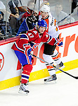 7 December 2009: Montreal Canadiens' defenseman Marc-Andre Bergeron in action against the Philadelphia Flyers at the Bell Centre in Montreal, Quebec, Canada. The Canadiens rallied, and defeated the Flyers 3-1. Mandatory Credit: Ed Wolfstein Photo