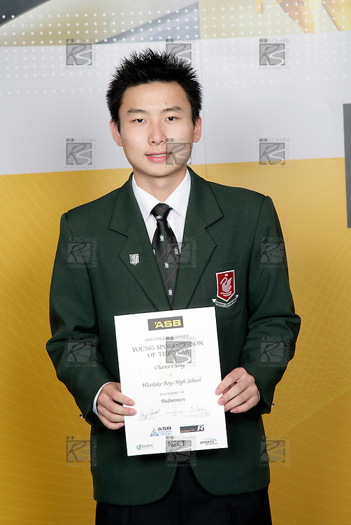 Badminton Boys Winner - Chance Cheng. ASB College Sport Young Sportsperson of the Year Awards 2006, held at Eden Park on Thursday 16th of November 2006.<br />