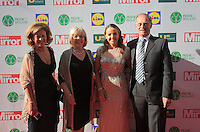 19/05/2015 <br /> (L to R) Deirdre Byrne<br /> Joan Scannell <br /> Maria Scannell<br /> Rory Scannell <br /> during the Irish mirror pride of Ireland awards at the mansion house, Dublin.<br /> Photo: gareth chaney Collins
