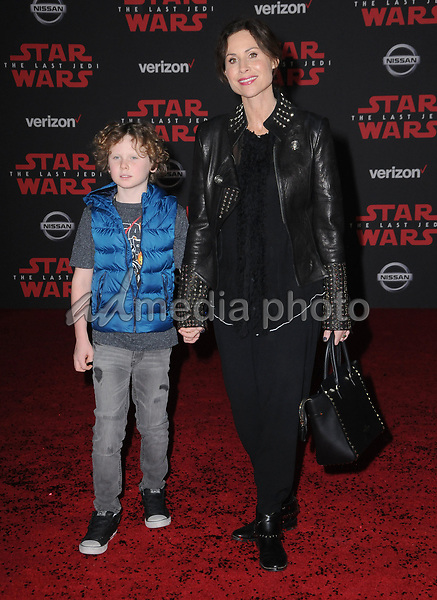"09 December  2017 - Los Angeles, California - Minnie Driver. Premiere Of Disney Pictures And Lucasfilm's ""Star Wars: The Last Jedi"" held at The Shrine Auditorium  in Los Angeles Photo Credit: Birdie Thompson/AdMedia"