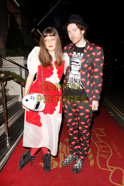 LONDON, ENGLAND - APRIL 28 :  Charlotte and Philip Colbert arrive at the Tatler Best of British - party at The Ritz on April 28, 2015 in London, England.<br /> CAP/AH<br /> &copy;Adam Houghton/Capital Pictures