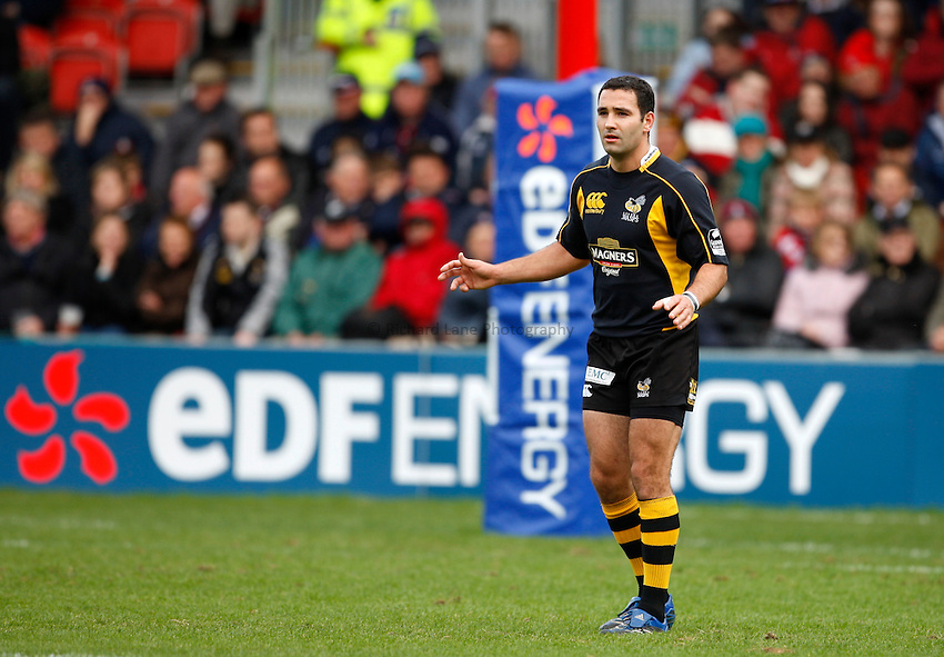 Photo: Richard Lane/Richard Lane Photography. Gloucester Rugby v London Wasps. Anglo Welsh EDF Energy Cup. 04/10/2008. Wasps' Jeremy Staunton.