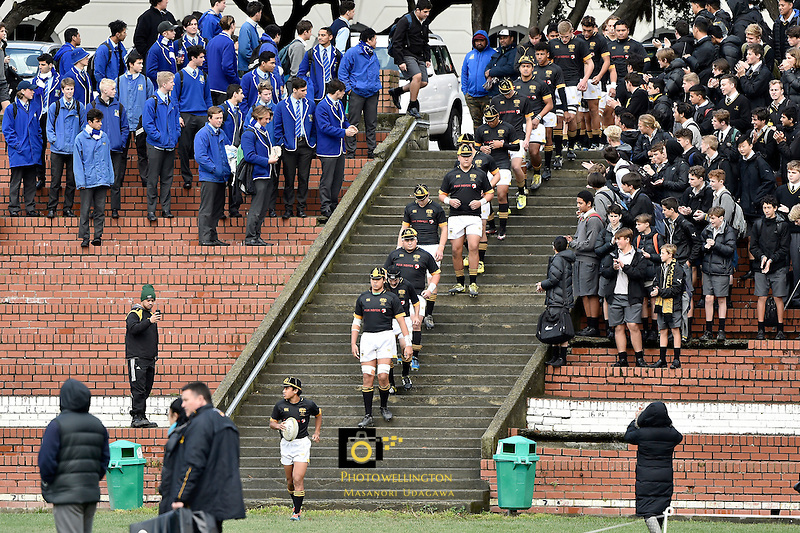 College Rugby - Wellington College v St Pat's Wgtn at Wellington College, Wellington, New Zealand on Wednesday 1 June 2016. <br /> Photo by Masanori Udagawa. <br /> www.photowellington.photoshelter.com.