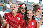 20 August 2014: Fans. The United States Women's National Team played the Switzerland Women's National Team at WakeMed Stadium in Cary, North Carolina in an women's international friendly soccer game. The United States won the match 4-1.