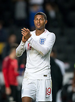 Rhian Brewster (Liverpool) of England U21 at full time during the UEFA Euro U21 International qualifier match between England U21 and Austria U21 at Stadium MK, Milton Keynes, England on 15 October 2019. Photo by Andy Rowland.