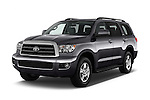 2016 Toyota Sequoia 5.7-Auto-SR5 5 Door SUV Angular Front stock photos of front three quarter view