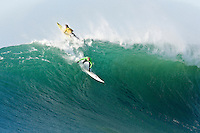 "Grant ""Twiggy"" Baker and Evan Slater.   Mavericks Surf Contest 2008.  Half Moon Bay, Ca.  January 12, 2008."