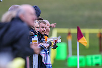 General view of supporters during of the Greene King IPA Championship match between Ampthill RUFC and Nottingham Rugby on Ampthill Rugby's Championship Debut at Dillingham Park, Woburn St, Ampthill, Bedford MK45 2HX, United Kingdom on 12 October 2019. Photo by David Horn.