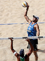 Campionati mondiali di beach volley, Roma, 17 giugno 2011..Poland's Michal Kadziola in action during the Beach Volleyball World Championship in Rome, 17 june 2011..UPDATE IMAGES PRESS/Riccardo De Luca