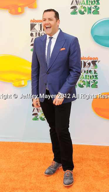LOS ANGELES, CA - MARCH 31: Ross Matthews arrives at the 2012 Nickelodeon Kids' Choice Awards at Galen Center on March 31, 2012 in Los Angeles, California.