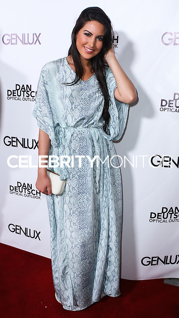 BEVERLY HILLS, CA, USA - JUNE 28: Actress/Singer Estrella Nouri arrives at the Genlux Magazine Summer 2014 Issue Release Party held at the Luxe Hotel on June 28, 2014 in Beverly Hills, California, United States. (Photo by Xavier Collin/Celebrity Monitor)