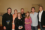 BREAKFAST: Frank Dicopoulos, Gina Tognoni, Robert Newman, Marcy Rylan, Jeff Branson, Grant Aleksander pose with Lisa Edmonds (co-founder YWBCAF - Young Womens Breast Cancer Awareness Foundation) at the VP GL Breakfast followed by a meet and greet and later that day the 4th Annual Fashion Show Luncheon on April 26, 2009 to benefit Young Women's Cancer Awareness Foundation at Embassy Suites Hotel, Coraopolis (near Pittsburgh). (Photo by Sue Coflin/Max Photos)