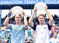 Washington, DC - August 6, 2017: Henri Kontinen (FIN) and John Peers (AUS) win the 2017 Citi Open Doubles Championship at Rock Creek Tennis Center, in Washington D.C. (Photo by Philip Peters/Media Images International)