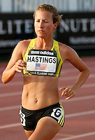 Amy Hastings during the 5000m run where she ran 15:5987 at the Adidas Track Classic on Saturday May 16, 2009. Photo by Errol Anderson, The Sporting Image.net