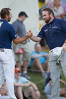 Sergio Garcia (ESP), Shane Lowry (IRL) on the 18th during the 1st round at the WGC Dell Technologies Matchplay championship, Austin Country Club, Austin, Texas, USA. 23/03/2017.<br /> Picture: Golffile | Fran Caffrey<br /> <br /> <br /> All photo usage must carry mandatory copyright credit (&copy; Golffile | Fran Caffrey)