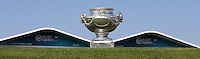 The Champion's Trophy on the 18th during thePro-Am of the 2015 Alstom Open de France, played at Le Golf National, Saint-Quentin-En-Yvelines, Paris, France. /01/07/2015/. Picture: Golffile | David Lloyd<br /> <br /> All photos usage must carry mandatory copyright credit (&copy; Golffile | David Lloyd)