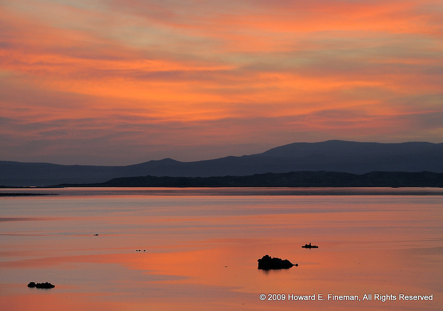 Pre-sunrise No. 2, near north end  of Mono Lake - about 1 minute and 40 seconds after Pre-sunrise No. 1. Spectacular light!