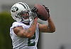 Gabe Marks #2, New York Jets wide receiver, makes a catch during the first day of offseason training activity at the Atlantic Health Jets Training Center in Florham Park, NJ on Tuesday, May 23, 2017.