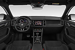 Stock photo of straight dashboard view of 2019 Skoda Kodiaq Sportline 5 Door SUV Dashboard