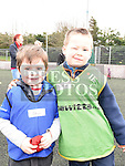 Rhys Smith and Senan Keely who took part in the St Mary's GAA Club Academy for 4-7 year olds. Photo:Colin Bell/pressphotos.ie