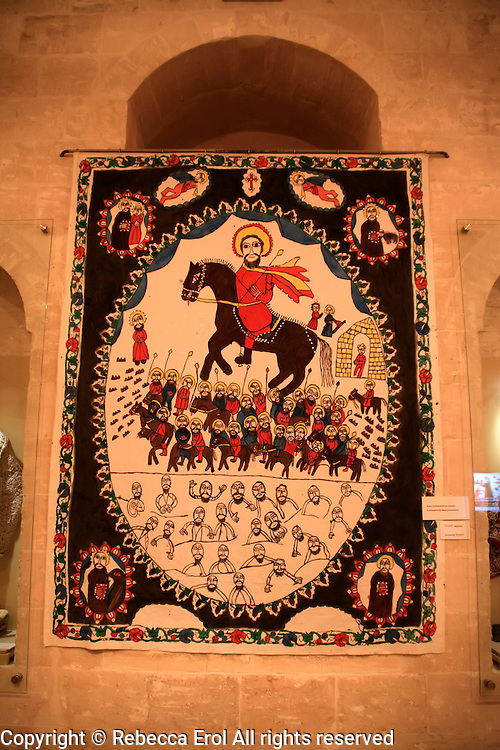 Sakip Sabanci Museum, Mardin, southeastern Turkey: yazma or handprinted fabric by Syriac Nasra Simmes-Hindi