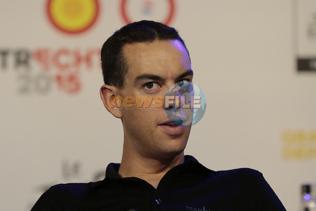 Richie Porte (AUS) Team Sky press conference before the start of the 2015 Tour de France in Utrecht, Netherlands. 3rd July 2015.<br /> Photo: Eoin Clarke www.newsfile.ie
