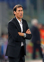 Calcio, Serie A: Roma vs ChievoVerona. Roma, stadio Olimpico, 31 ottobre 2013.<br /> AS Roma coach Rudi Garcia, of France, looks on during the Italian Serie A football match between AS Roma and ChievoVerona at Rome's Olympic stadium, 31 October 2013.<br /> UPDATE IMAGES PRESS/Riccardo De Luca