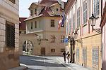 Street in Prague Castle in Prague, Czech Republic.