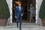 King Felipe VI of Spain and Queen Letizia of Spain during Chile´s President Michelle Bachelet Jeria reception at Zarzuela Palace in Madrid, Spain. October 29, 2014. (ALTERPHOTOS/Victor Blanco)