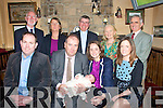 Baby Amy, with her parents Cathal Tracey & Orla Boyle, who was christened on Sunday in St John's Church, Ballybunion by Fr. Sean Hannafin. ..Frot: Ivan Hanly, Cathal tracey with Amy, Orla Boyle & Aishling Boyle. Back: Sean Tracey, Mary Tracey, FR. Sean Hannafin, Paticia & Maurice Boyle.