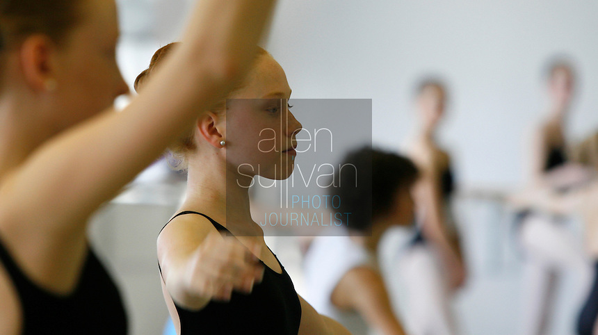 Martha Rich, of Nashville, Tenn., performs with other dancers at the Atlanta Ballet Center for Dance Education in Atlanta on Saturday, Jan. 6, 2007 during auditions to attend the School of American Ballet in New York City. Atlanta was the first stop on an audition tour of more than two dozen cities. About ten percent of the hopefuls will be chosen.