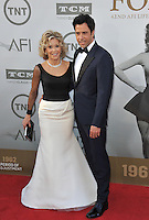 Jane Fonda &amp; actor son Troy Garity at the 2014 American Film Institute's Life Achievement Awards honoring Jane Fonda, at the Dolby Theatre, Hollywood.<br /> June 5, 2014  Los Angeles, CA<br /> Picture: Paul Smith / Featureflash