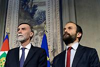 Roma, 12 Aprile 2018<br /> Partito Democratico<br />  Graziano Delrio, Matteo Orfini<br /> Secondo giro di Consultazioni per la formazione del Governo