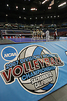 15 December 2007: Stanford Cardinal (not in order) Cynthia Barboza, Janet Okogbaa, Joanna Evans, Bryn Kehoe, Alex Fisher, Franci Girard, Cassidy Lichtman, Gabi Ailes, Alix Klineman, Jessica Fishburn, Erin Waller, Stephanie Browne, and Foluke Akinradewo during Stanford's 2007 NCAA Division I Women's Volleyball Final Four closed practice at ARCO Arena in Sacramento, CA.