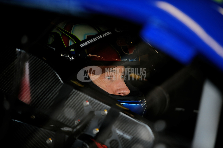 Jul. 1, 2010; Daytona Beach, FL, USA; NASCAR Sprint Cup Series driver Mark Martin during practice for the Coke Zero 400 at Daytona International Speedway. Mandatory Credit: Mark J. Rebilas-