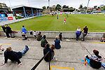 Yorkshire fans watching as Jersey attack. Yorkshire v Parishes of Jersey, CONIFA Heritage Cup, Ingfield Stadium, Ossett. Yorkshire's first competitive game. The Yorkshire International Football Association was formed in 2017 and accepted by CONIFA in 2018. Their first competative fixture saw them host Parishes of Jersey in the Heritage Cup at Ingfield stadium in Ossett. Yorkshire won 1-0 with a 93 minute goal in front of 521 people.
