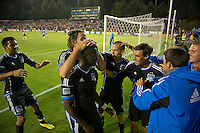 Santa Clara, Ca - Saturday, August 25, 2012: The San Jose Earthquakes defeated the Colorado Rapids 4-1 at Buck Shaw Stadium.