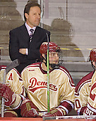 George Gwozdecky, Mike Handza - The Ferris State Bulldogs defeated the University of Denver Pioneers 3-2 in the Denver Cup consolation game on Saturday, December 31, 2005, at Magness Arena in Denver, Colorado.