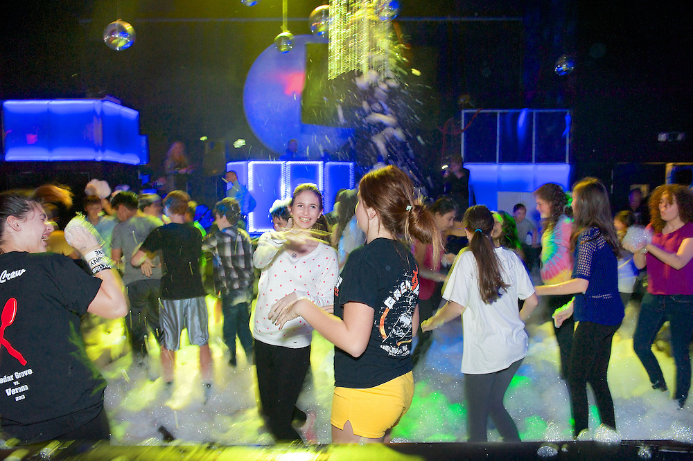 A wild bubble party at a Bar Mitzvah at Space in Englewood, NJ