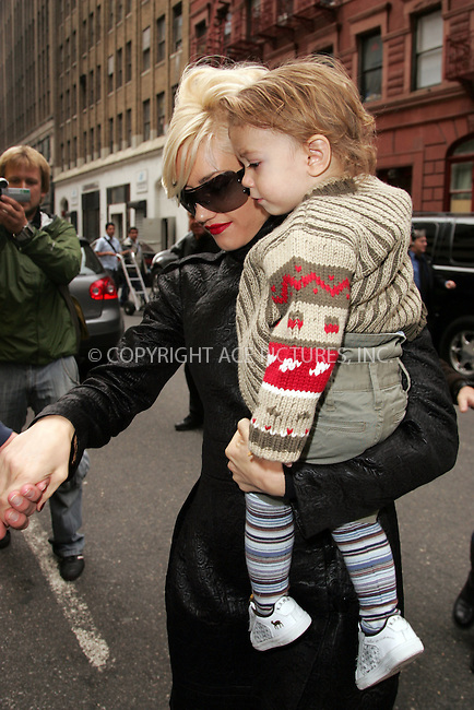 WWW.ACEPIXS.COM . . . . . ....October 24 2007, New York City....Recording artist Gwen Stefani took her son Kingston to the Hammerstein Ballroon in midtown Manhattan where she is rehearsing for an upcoming performance.....Please byline: DAVID MURPHY - ACEPIXS.COM.. . . . . . ..Ace Pictures, Inc:  ..(646) 769 0430..e-mail: info@acepixs.com..web: http://www.acepixs.com