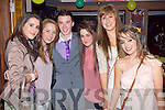 Bobby Leen, Caherslee centre who celebrated his 21st birthday with Family and friends Orla Horan, Sadhbh Baker, Bobby Leane Emma Nolan Michelle Moriarty and Sinead Boyle in the Abbey Inn, Tralee on Saturday night.