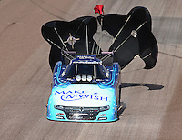 Feb 22, 2015; Chandler, AZ, USA; NHRA funny car driver Tommy Johnson Jr during the Carquest Nationals at Wild Horse Pass Motorsports Park. Mandatory Credit: Mark J. Rebilas-