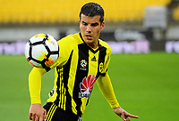 Wellington's Andrija Kaluderovic in action during the A-League football match between Wellington Phoenix and Melbourne Victory at Westpac Stadium in Wellington, New Zealand on Friday, 10 January 2018. Photo: Dave Lintott / lintottphoto.co.nz