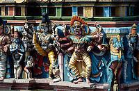 Indien, Madurai (Tamil Nadu). Fassade des Sri Meenakshi Tempel